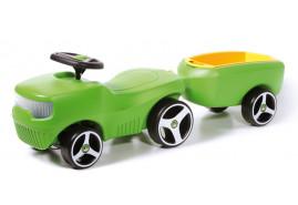 детский беговел +прицеп BFARM зеленый 361C