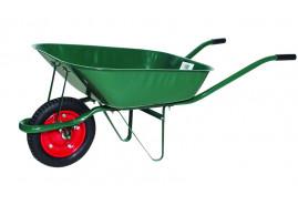 садовая тачка, грузоподъёмность 80 кг объём ковша 60 л <br>с надувными колёсами