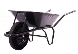 тачка строительная 60 л, колесо резиновое цельное, ковш цельнотянутый, грузоподъёмность 100 кг