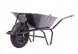 тачка строительная 60 л, колесо пневматическое, ковш цельнотянутый, грузоподъёмность 100 кг