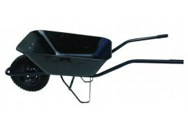 тачка строительная 80 л, резиновые колёса - ковш волочённый, грузоподъемность 100 кг