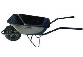 тачка строительная 80 л, колёса надувные - ковш волочённый, грузоподъемность 100 кг