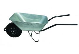 тачка строительная 80 л, резиновые колёса - ковш оцинкованный, грузоподъемность 100 кг