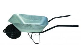 тачка строительная 80 л, колёса надувные - ковш оцинкованный, грузоподъемность 100 кг