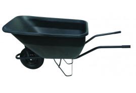 тачка хозяйственная 180 л, колесо резиновое цельное - пластиковый ковш, грузоподъёмность 100 кг