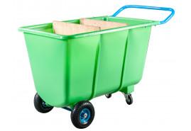 четырехколесная тележка 400 л- пластик. кузов