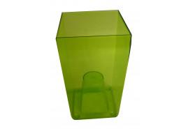 кашпо на горшок цветочный квадратное, DUW 120P, зеленое, размер 120x120x200 мм