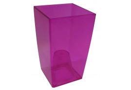 кашпо на горшок цветочный квадратное, DUW 120P, розовое, размер 120x120x200 мм