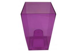 кашпо на горшок цветочный квадратное, DUW 120P, фиолетовое, размер 120x120x200 мм
