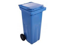 мусорный бак 120 л пластиковый жёлтый