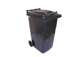 мусорный бак 240 л пластиковый жёлтый