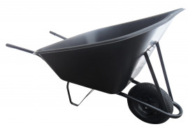 тачка хозяйственная 210 л, колесо пневматическое - пластиковый ковш, грузоподъёмность 100 кг