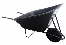 тачка хозяйственная 210 л, колесо резиновое цельное - пластиковый ковш, грузоподъёмность 100 кг