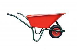 тачка LIVEX 100 л, надувное колесо, в сборе - пластмассовый кузов красная, грузоподъёмность 100 кг