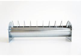 кормушка для кур 100 см - средне-глубокая, оцинкованная