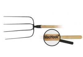 MacHook вилы BAV с черенком 4 зубца с черенком  130 черные